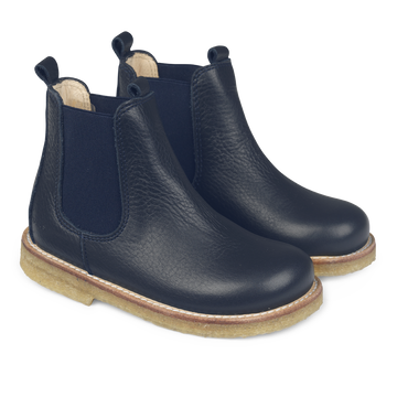ANGULUS CLASSIC CHELSEA BOOT WITH ELASTIC NAVY
