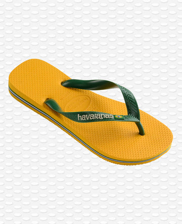 HAVAIANAS Slippers kids brasil logo banana yellow