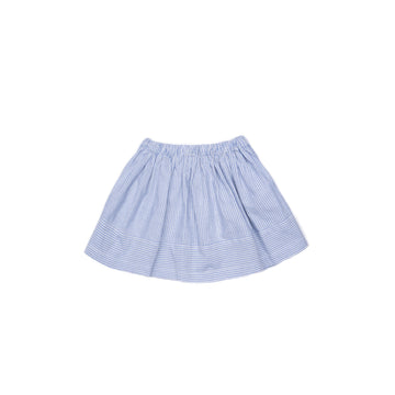 BARN OF MONKEYS FLARED MINI SKIRT STRIPED BLUE