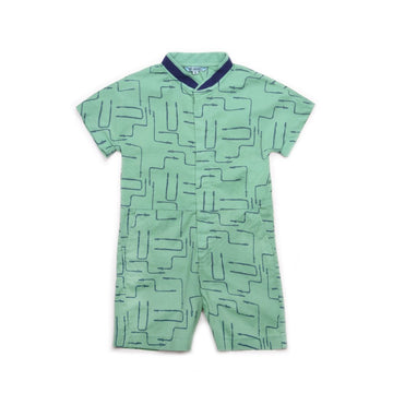 BARN OF MONKEYS SHIRT JUMPSUIT GUM GREEN