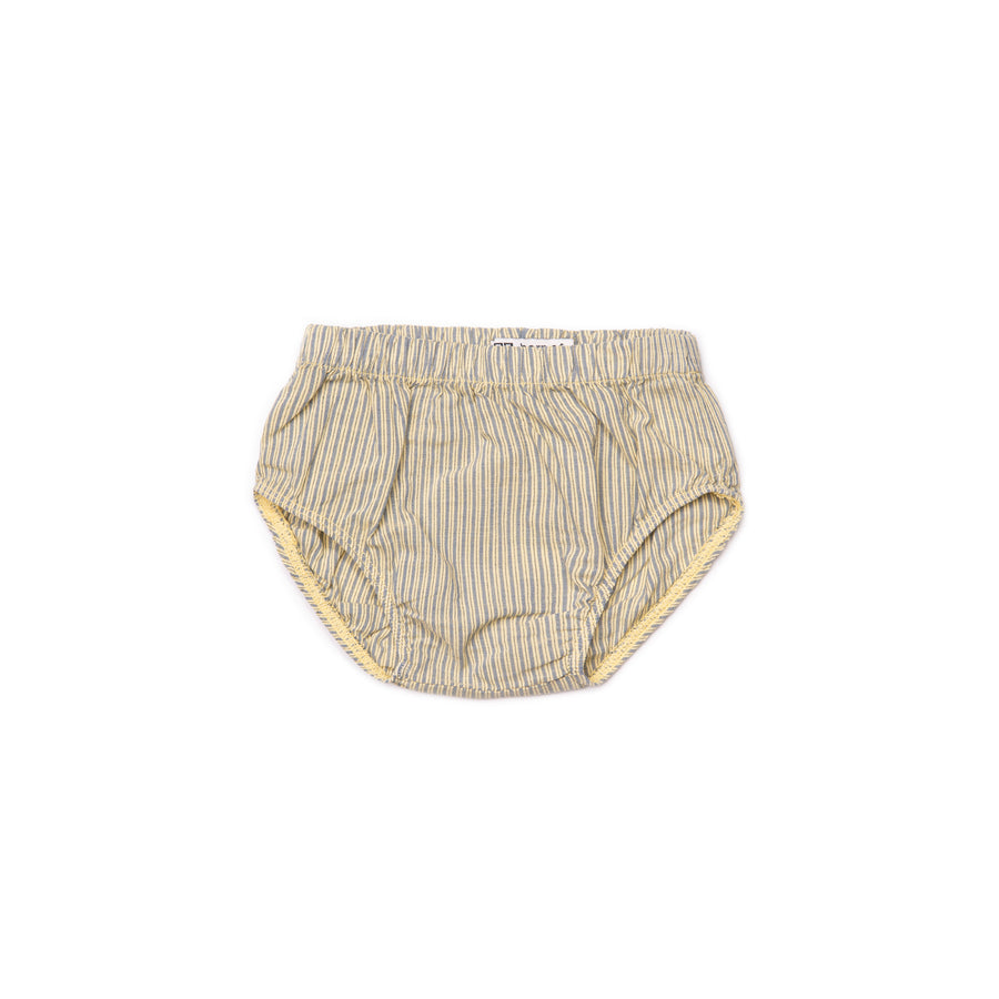 BARN OF MONKEYS STRIPED BLOOMER BABY STRIPED CANARY