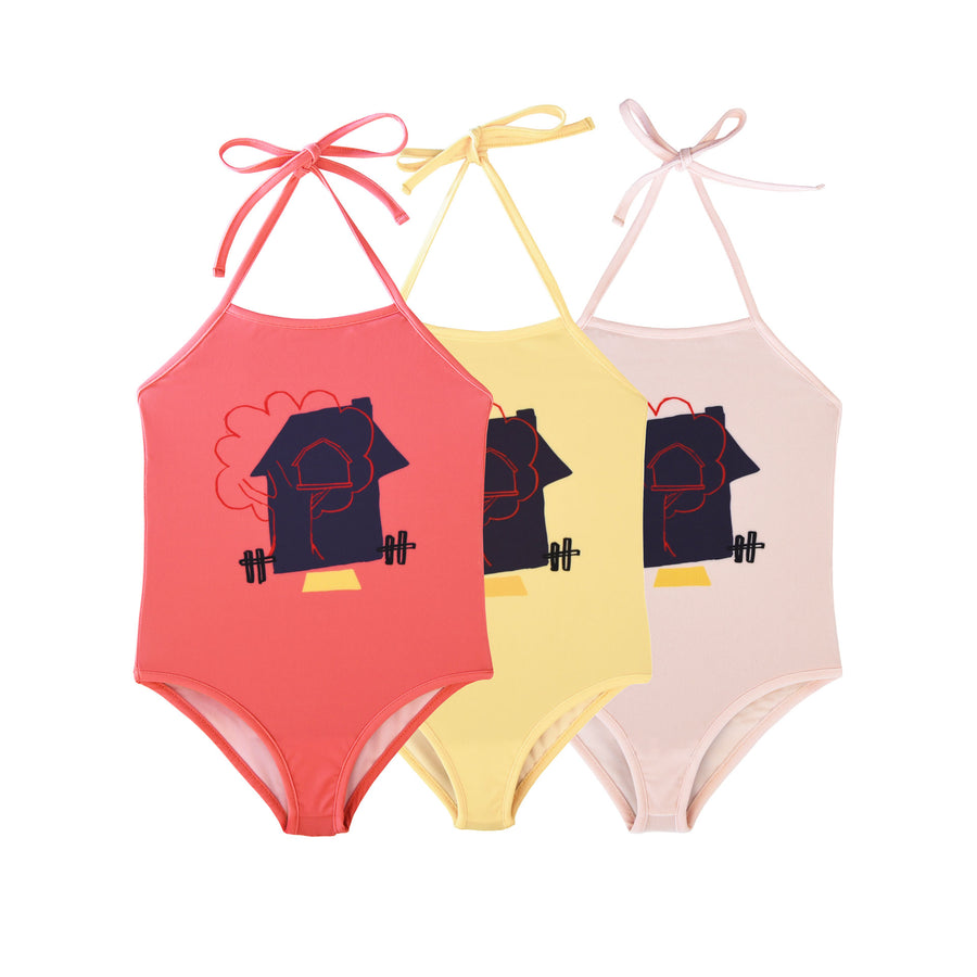 BARN OF MONKEYS TREE HOUSE SWIMSUIT CANARY