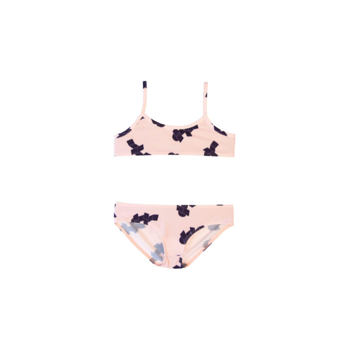 BARN OF MONKEYS HOPSCOTCH BIKINI OLD PINK