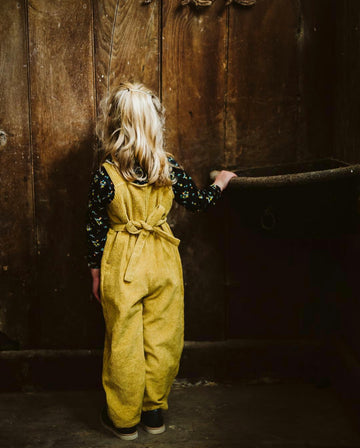 Little Cotton Clothes Margo Dungarees Mustard