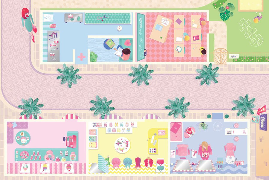 Playmat Dolls Street
