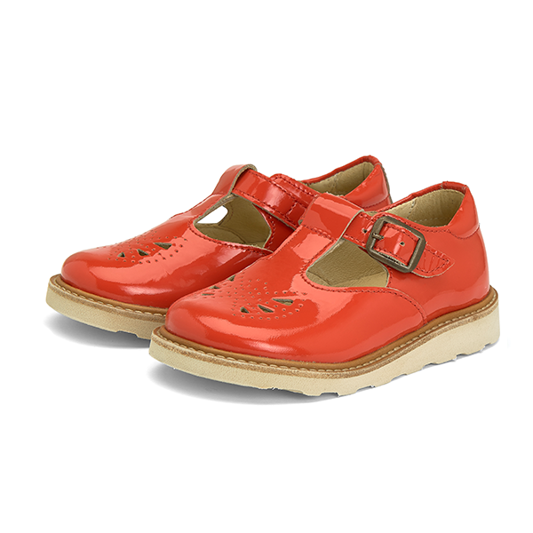 YOUNG SOLES ROSIE T-BAR SHOE CLEMENTINE PATENT LEATHER