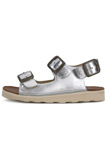 YOUNG SOLES Spike Leather Sandals with eva sole SILVER