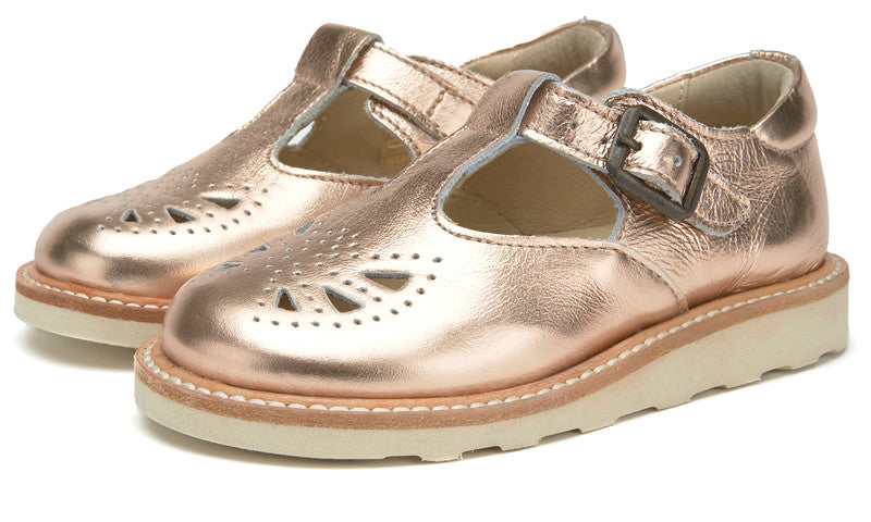 YOUNGSOLES ROSIE T-BAR ROSE GOLD
