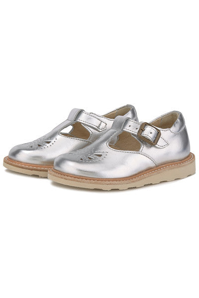 YOUNGSOLES ROSIE T-BAR SILVER