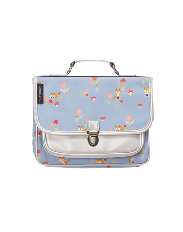 CARAMEL&CIE MEDIUM SCHOOLBAG LITTLE FOXES