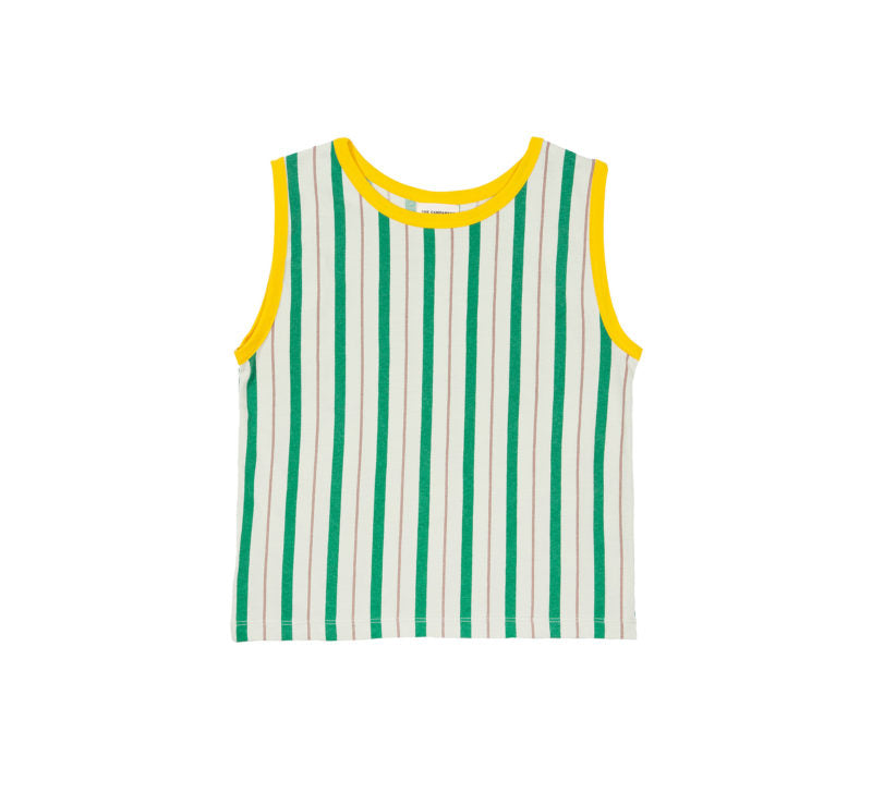 THE CAMPAMENTO STRIPED SLEEVELESS T-SHIRT
