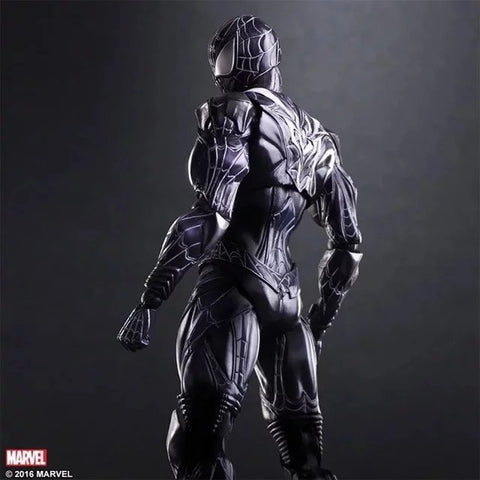 Spider-Man - Black Suit Spider-Man Play Arts Kai 10u201d Action Figure & Spider-Man - Black Suit Spider-Man Play Arts Kai 10u201d Action Figure ...