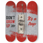 Don't Grow Up Skateboard Wall Art