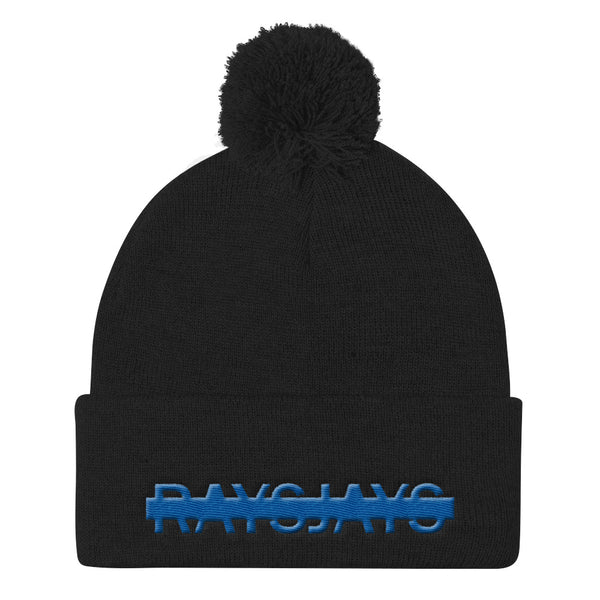 Ray's Jays Pom Pom Knit Cap
