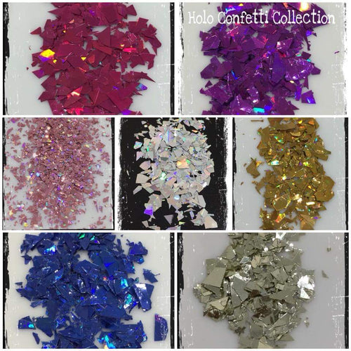 Holographic Confetti Flakes Collection