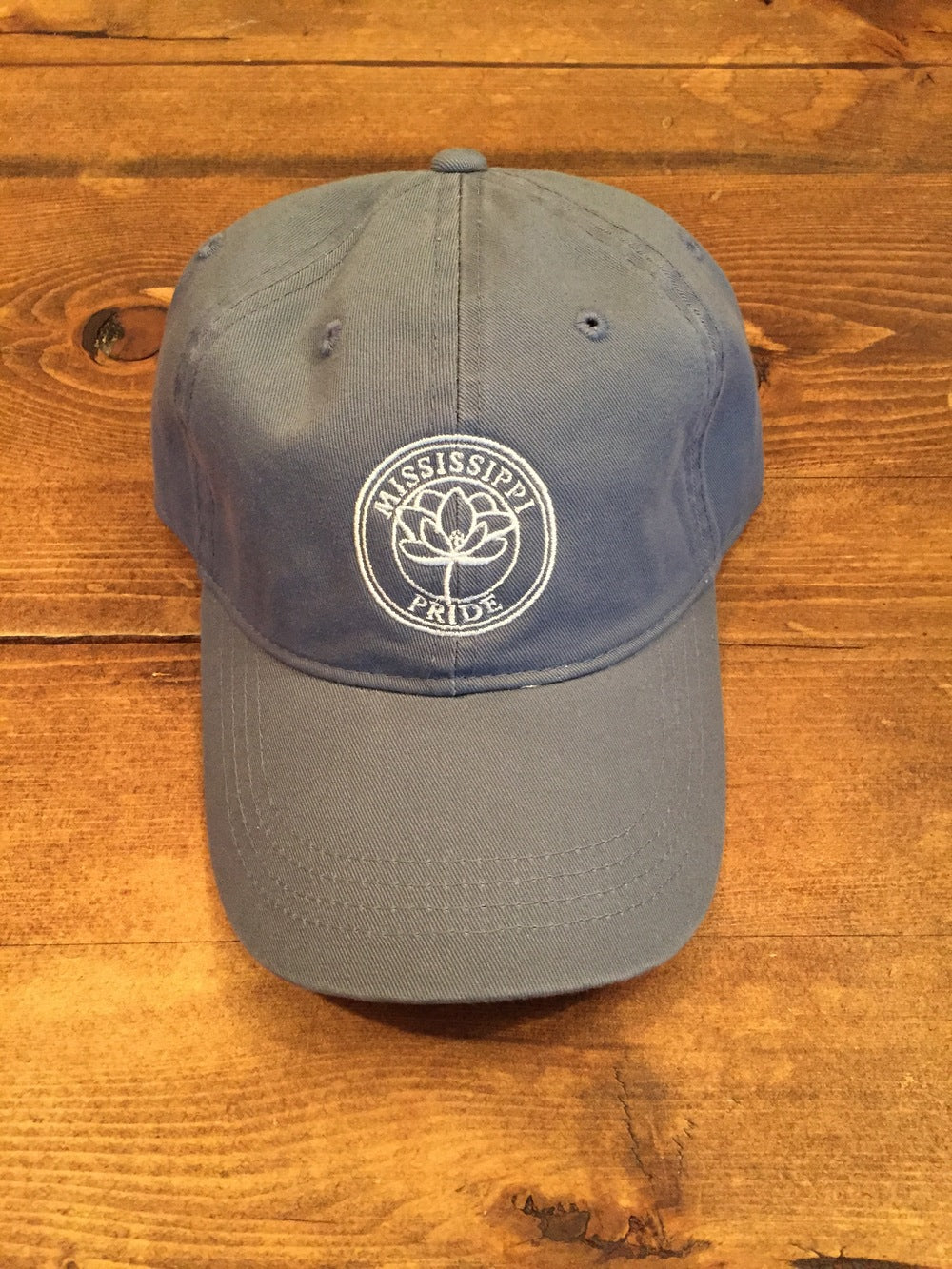 Mississippi Pride Classic Adjustable Hat (Powder Blue)