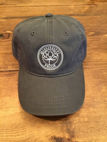 Mississippi Pride Classic Adjustable Hat (Charcoal)