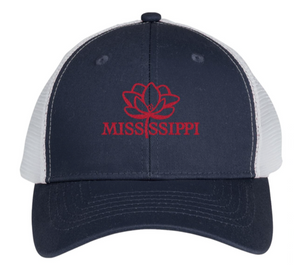 Mississippi Pride Trucker Hat (Navy w/ Red)