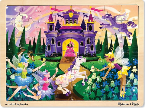Melissa & Doug: Fairy Fantasy Jigsaw Puzzle - 48 Pieces - The Board Gamer