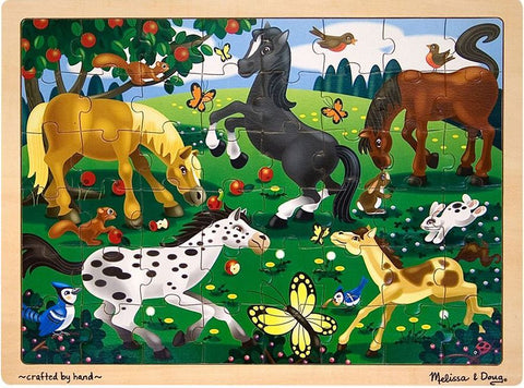 Melissa & Doug: Frolicking Horses Jigsaw Puzzle - 48 Pieces