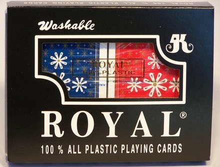 Royal Playing Cards Double Pack 100% Plastic - The Board Gamer