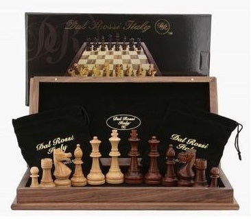 Dal Rossi Walnut Chess Set (44cm)