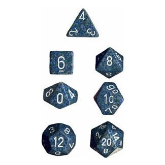 Chessex Speckled Polyhedral Dice Set - Blue Stars