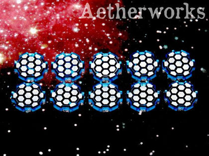 Aetherworks Shield Tokens - Translucent Blue (10 Pack) - The Board Gamer