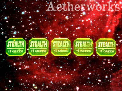 Aetherworks Stealth Tokens - Flourescent Green (5 Pack) - The Board Gamer