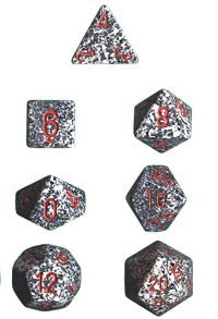 Chessex - Polyhedral Dice Set - Granite Speckled - The Board Gamer