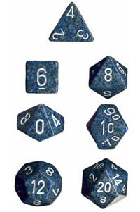 Chessex - Polyhedral Dice Set - Sea Speckled - The Board Gamer
