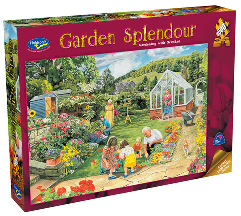 Holdson: Garden Splendor 1500pc - Gardening With Grandad - The Board Gamer