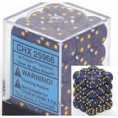 Chessex Speckled 12mm D6 Dice Block: Twilight