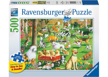 Ravensburger – At The Dog Park Lge Form Puzzle 500pc - The Board Gamer