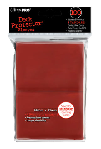 Ultra Pro: Deck Protector - Standard Red (100ct)