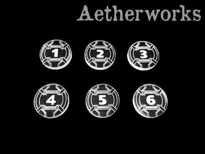 Aetherworks: Armada Round Tokens (6 Pack) - The Board Gamer