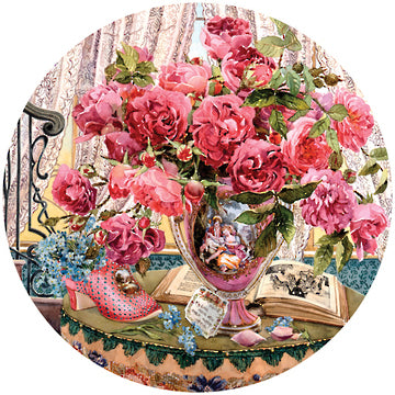 Flowers Bring Smiles 500pce Circular Jigsaw Puzzle -Tales of the Rose - The Board Gamer