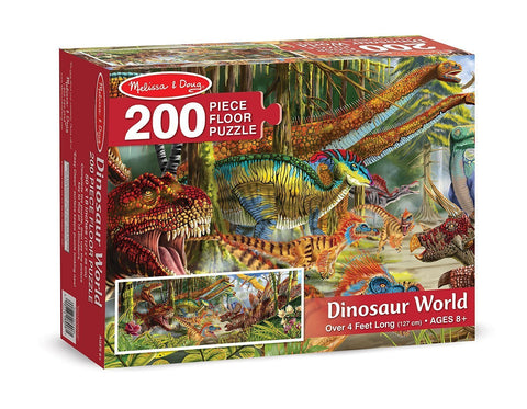 Melissa & Doug: World Floor Puzzle - Dinosaurs - The Board Gamer