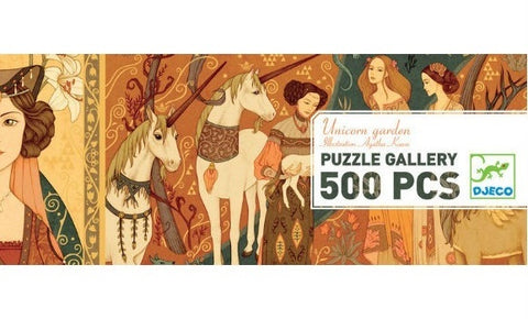 Djeco: 500pc Unicorn Garden Gallery Puzzle