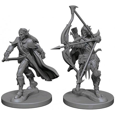 Pathfinder Deep Cuts: Unpainted Miniature Figures - Elf Male Fighter
