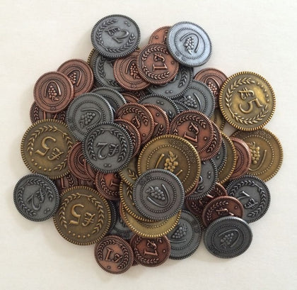 Viticulture: Metal Lira Coins - Game Accessory