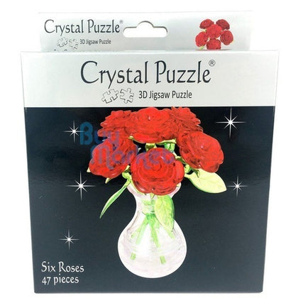 Crystal Puzzle: Six Roses in Vase