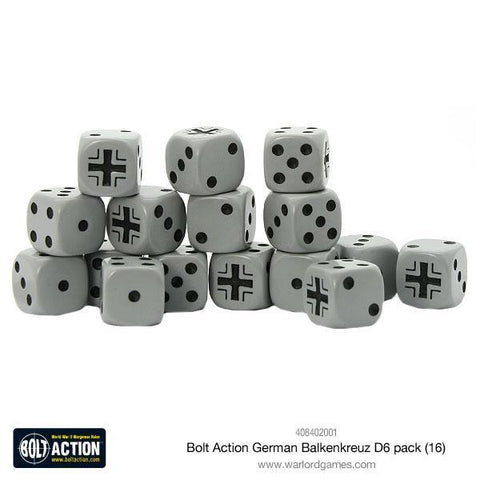 Bolt Action German Balkenkreuz D6 pack (16) - The Board Gamer