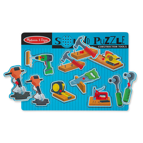 Melissa & Doug - Construction Tools Sound Puzzle