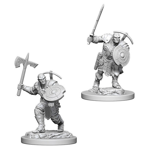 D&D Nolzur's Marvelous: Unpainted Miniatures - Earth Genasi Male Fighter - The Board Gamer