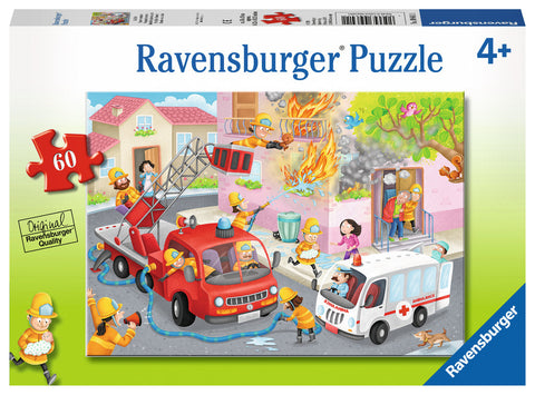Ravensburger : Firefighter Rescue! Puzzle 60pc - The Board Gamer