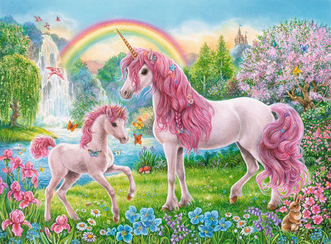 Ravensburger : Magical Unicorns Puzzle 100pc - The Board Gamer