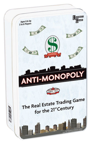 Anti-Monopoly - Tin Travel Game - The Board Gamer