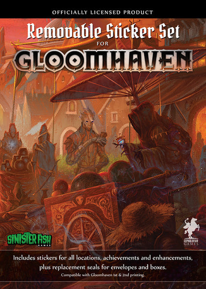 Gloomhaven - Removable Sticker Set - The Board Gamer