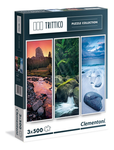 Clementoni: 500-Piece Puzzle - Triple Pack (Trittico Nature) - The Board Gamer